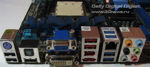 ASUS M4A88TD-V EVO/USB3 задняя панель