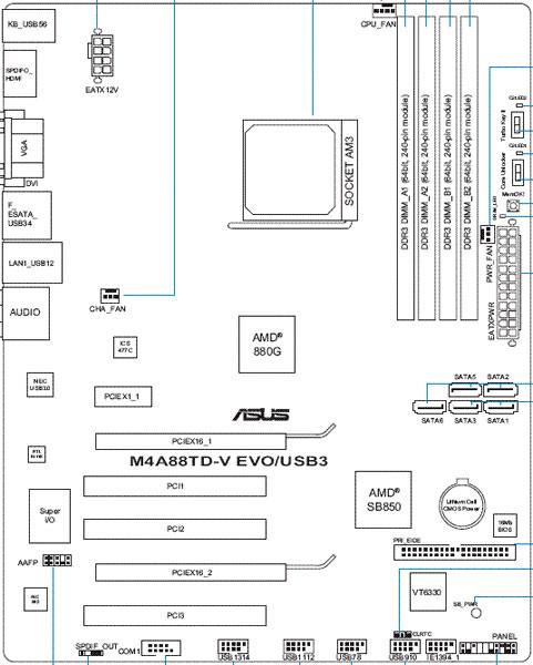 ASUS M4A88TD-V EVO/USB3 схема
