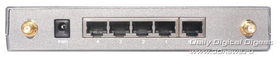 Маршрутизатор Level One WBR-5400  вид сзади