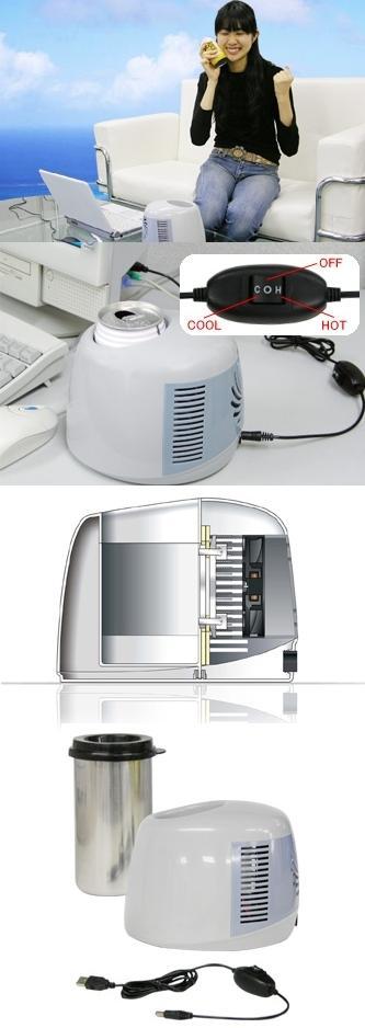 Очередное изобретение японцев - USB-охладитель/нагреватель напитков.