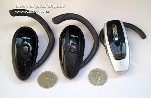 Bluetooth гарнитуры Nokia и Jabra