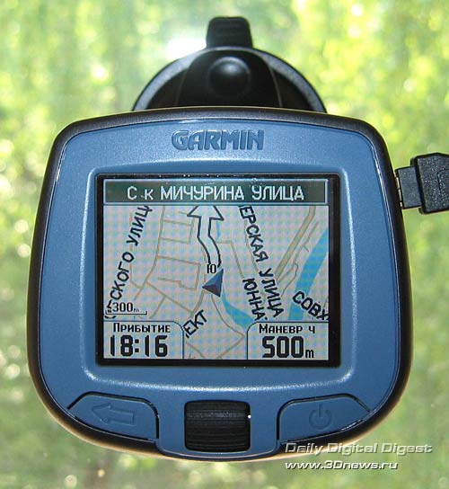 Настройка навигатора GARMIN StreetPilot i3