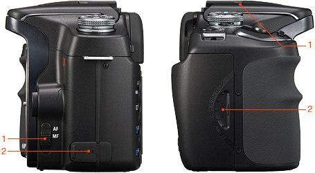 Цифровая зеркальная камера Sony DSLR-A100. Вид сбоку