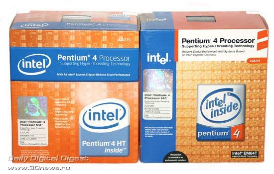 Коробка Intel Pentium 4 641