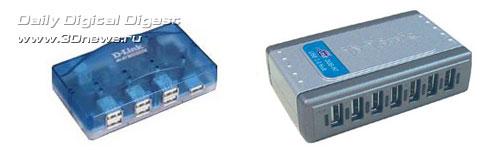 обычные USB-концентраторы