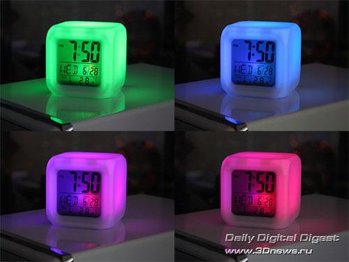 многофункциональные часы с подсветкой