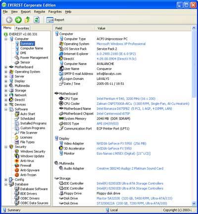 """Infan.ru : Скриншоты к программе  """"AIDA64 Extreme Edition Engineer """" ."""