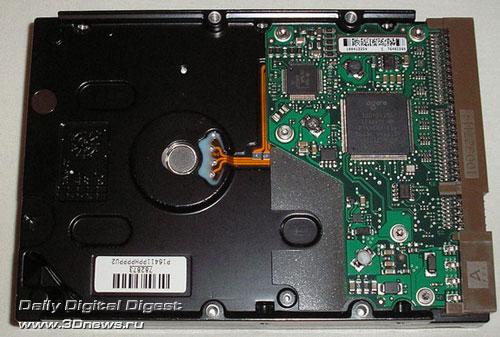 Seagate ST3250620A вид снизу