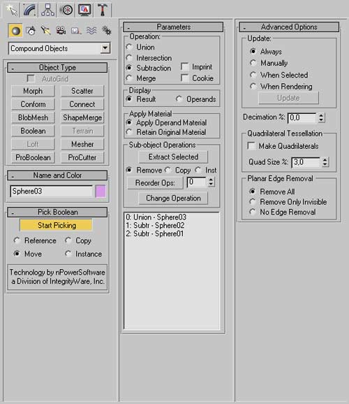 Модуль Pro Booleans