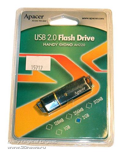 Apacer AH220 в упаковке