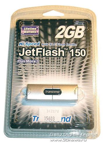 JetFlash 150 в упаковке
