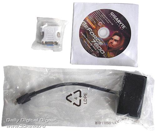Gigabyte GF7600GT Silent package bundled