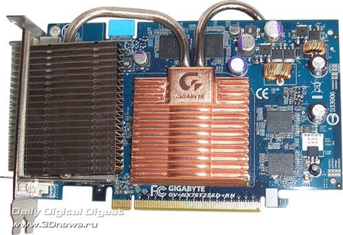 фронтальная сторона Gigabyte GF7600GT Silent