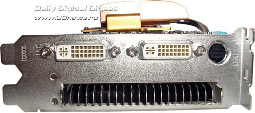 разъемы на Gigabyte GF7600GT Silent
