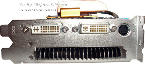 connectors on Gigabyte GF7600GT Silent