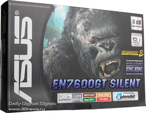ASUS GF7600GT Silent в упаковке