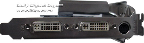 разъемы на ASUS GF7600GT Silent