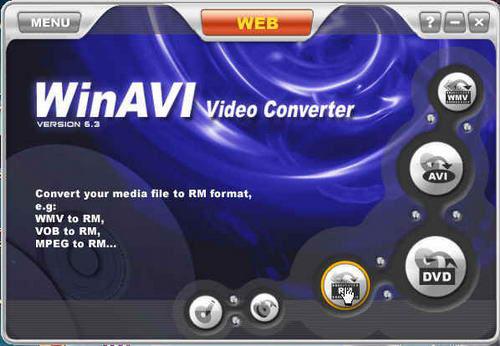 WinAVI Video Converter, окно программы
