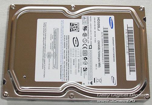 Samsung HD320LJ  вид сверху