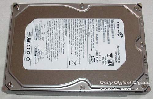 Seagate ST3320620AS вид сверху