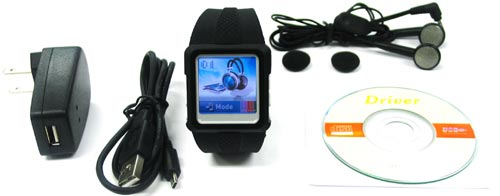 Наручные часы с mp3-плеером Thanko MP4 Watch