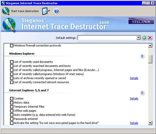 Internet Trace Destructor