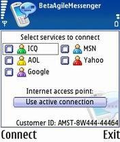 Agile Messenger, окно программы