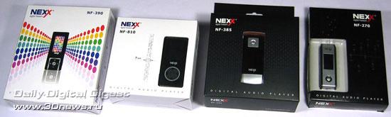 Четыре MP3-новинки от Nexx Digital