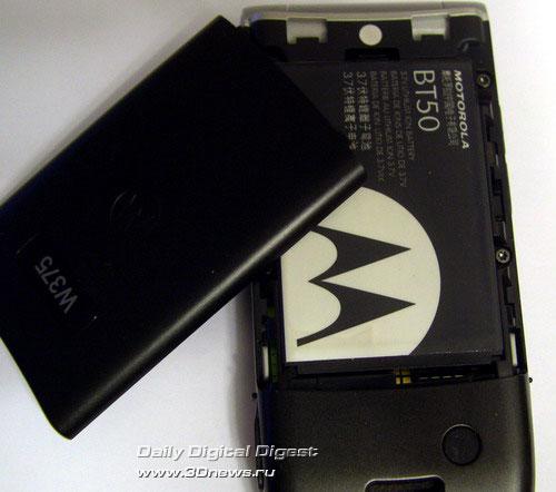 Тыльная сторона Motorola W375