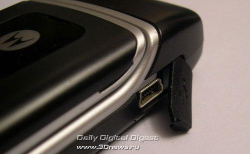разъем для USB–кабеля Motorola W375