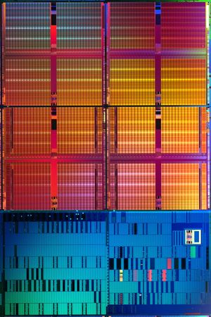 Intel Penryn. 45 nm SRAM chip