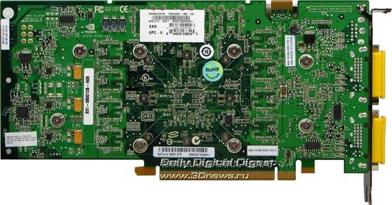 MSI 8800GTS 320 Mb, rear view