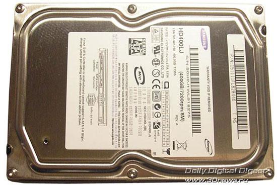 Samsung HD400LJ  вид сверху