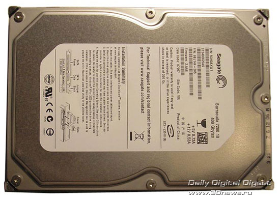 Seagate ST3400620AS вид сверху