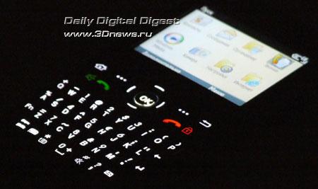 Samsung i600 Ultra. QWERTY клавиатура
