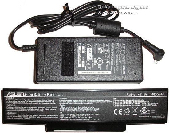 Блок питания и аккумулятор ASUS F3JP
