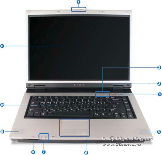 Внешний вид Samsung R55