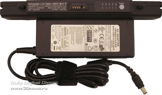 Блок питания и аккумулятор Samsung R55