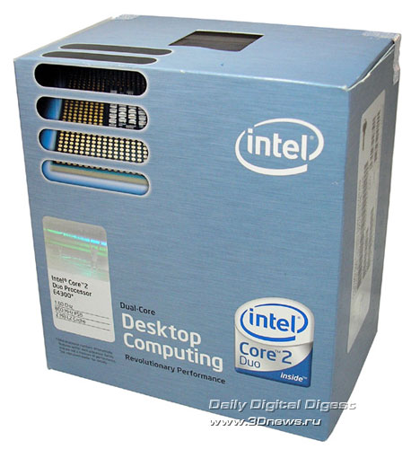 Коробка Intel Core 2 Duo E4300