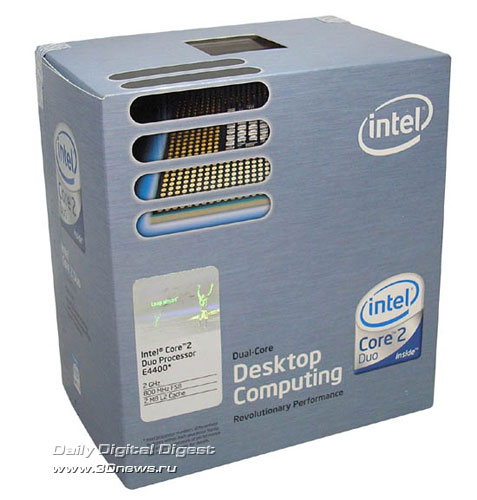 Коробка Intel Core 2 Duo E4400