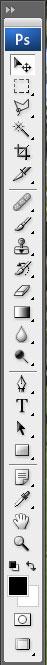 Photoshop CS3 кнопки на палитре инструментов