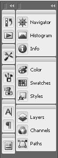 Photoshop CS3 стыковочные блоки