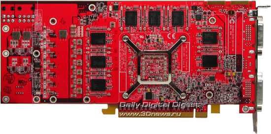 Radeon HD2900XT вид сзади без кулера