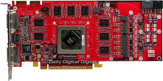 Radeon HD2900XT вид спереди без кулера