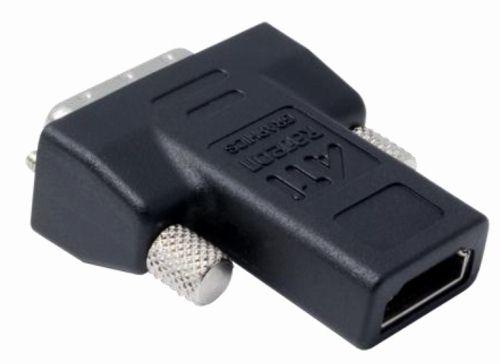 на видюхе 2 DVI? найди переходник DVI-HDMI и юзай. dunairus. такой переходник у меня с Radeon 3870 шёл...