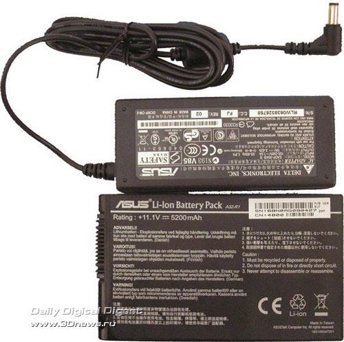 Блок питания и аккумулятор ASUS R1F