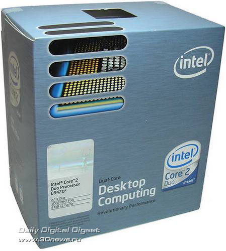 Упаковка Intel Core 2 Duo E6420