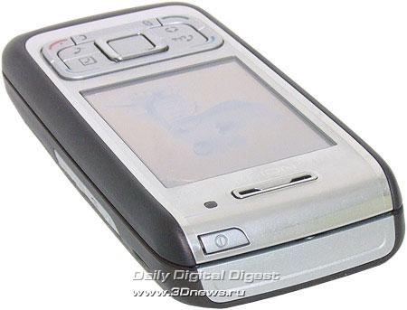 Nokia E65. Вид сверху
