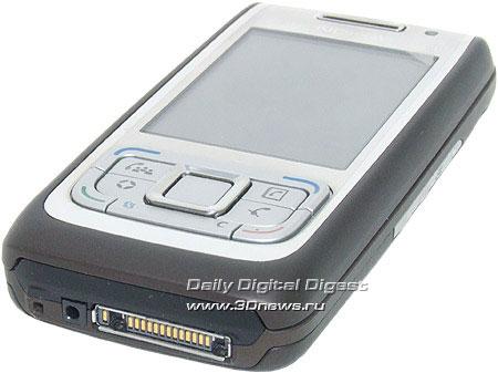 Nokia E65. Вид снизу