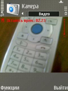 Nokia E65. Режим видео